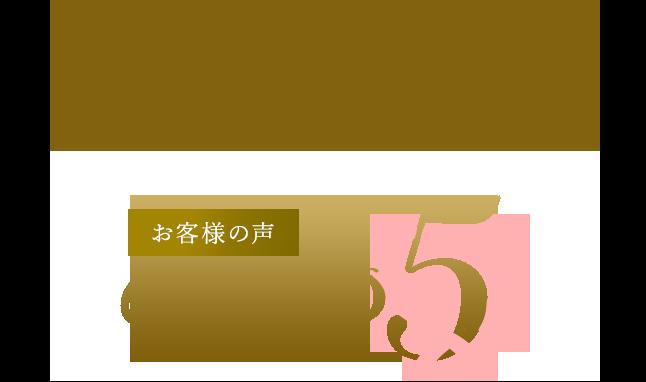 現状の恋活・婚活パーティー お客様の声TOP5