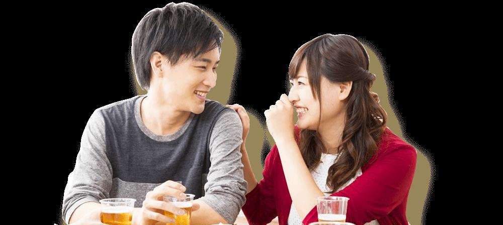 20代街コン婚活パーティーの会話イメージ